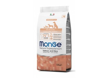 Monge SUPERPREMIUM  All Breeds Puppy & Junior Salmone e Riso per cane da 800 g