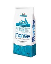 Monge SUPERPREMIUM All Breeds Hypoallergenic Salmone e Tonno da kg 12 cane