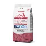 MONGE SUPERPREMIUM All Breeds Adult Monoproteico  Manzo con Riso da kg 2,5