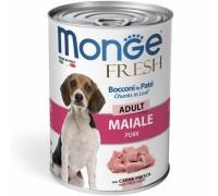 Monge Fresh Bocconi in Paté con Maiale Adult da gr 400
