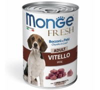 Monge Fresh Bocconi in Paté con Vitello  Adult da gr 400