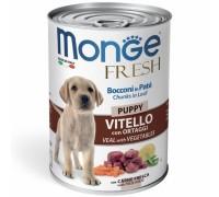 Monge Fresh Bocconi in Paté Vitello con Ortaggi  Puppy da gr 400