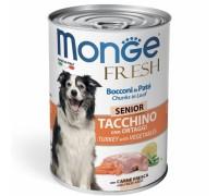 Monge Fresh Bocconi in Paté Tacchino con Ortaggi  Senior da gr 400