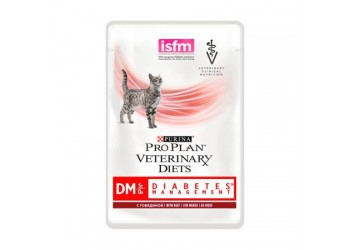 Purina Pro Plan Veterinary Diets Feline DM ST/OX Diabetes Management Manzo da 85 gr
