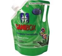 Sanibox Detergente Igienizzante elimina odori da 1 litro Profumazione Aloe