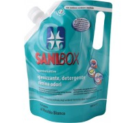 Sanibox Detergente Igienizzante elimina odori da 1 litro Profumazione Muschio Bianco