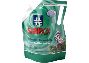 Sanibox Detergente Igienizzante elimina odori da 1 litro Profumazione Pino Silvestre