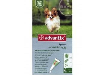 Bayer Antiparassitario Advantix Spot-on per cani (0 - 4 kg) conf.da 4 pipette € 4,55 cadauna