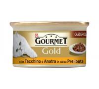 Purina Nestlè Gourmet Gold CASSEROLE CON ANATRA E TACCHINO IN SALSA 85gr