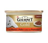 Purina Nestlè Gourmet Gold CASSEROLE CON MANZO E POLLO IN SALSA DI POMODORO 85GR