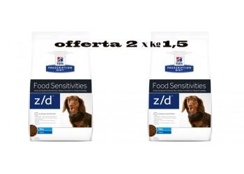 Hill's Prescription Z/D Mini Food Sensitivities per cane Offerta 2 x kg 1,5