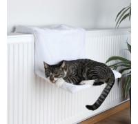 Cuccia per Gatti Trixie Amaca per radiatori in peluche - Bianco lana