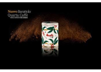Caffè Quarta Nuovo barattolo Confezione Natalizia gr 250 miscela Barocco 100% Arabica